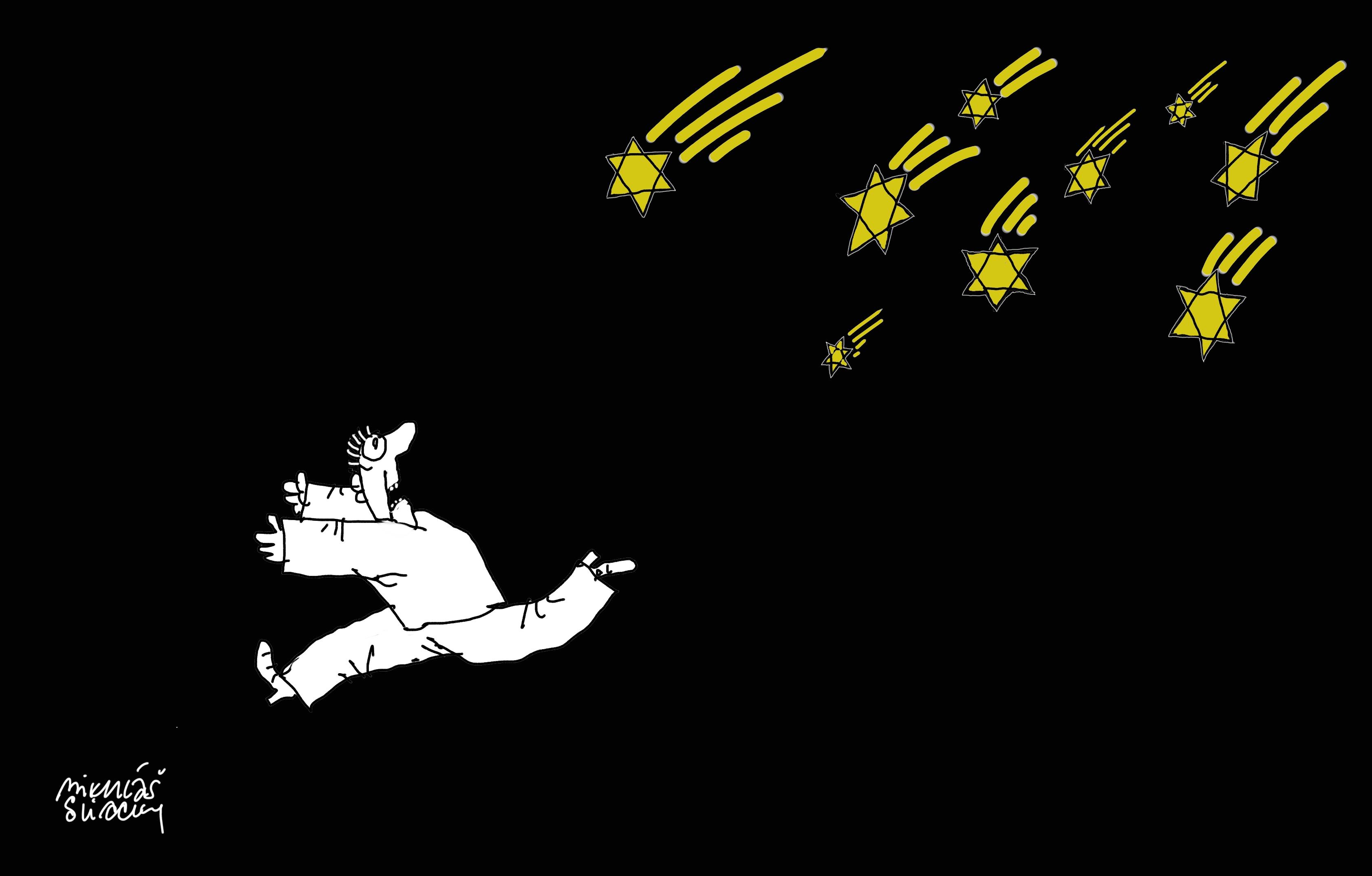 Mýty o Židoch (kresba Miki Sliacky)